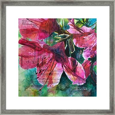 Faith - Pink Azalea Framed Print by Trish McKinney