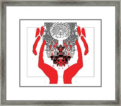 Faith Symbol Framed Print by Olena Kulyk