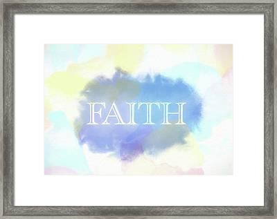 Faith Watercolor Framed Print