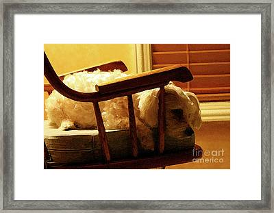 Faithful Framed Print by Karen Adams