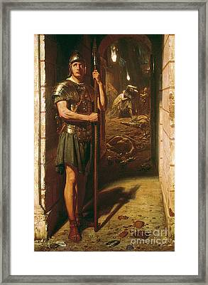 Faithful Unto Death Framed Print by Sir Edward John Poynter