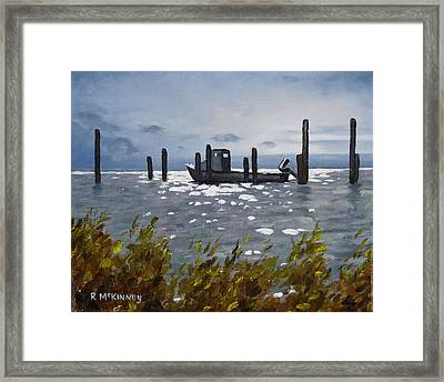 Framed Print featuring the painting Faithful Waiting by Rick McKinney
