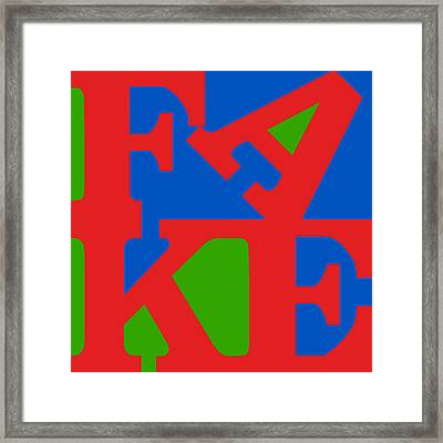 Fake Two Framed Print by Rob Sneyder
