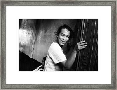 Faking Coyness Framed Print by Jez C Self