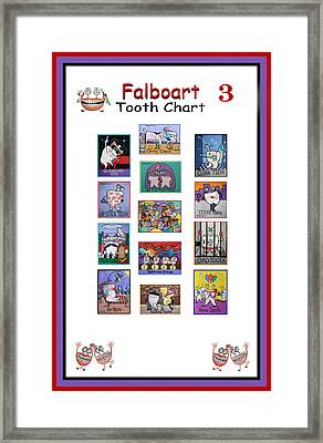 Falboart Tooth Chart 3 Framed Print by Anthony Falbo