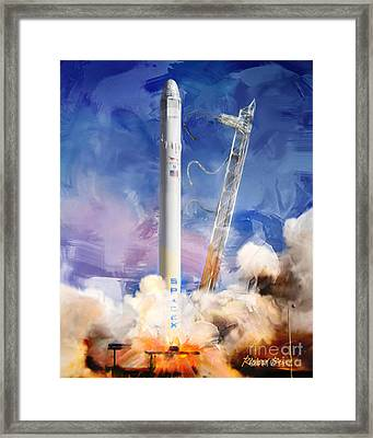 Falcon 9 Liftoff Framed Print