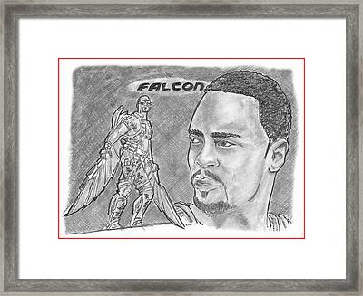 Falcon Framed Print by Chris DelVecchio