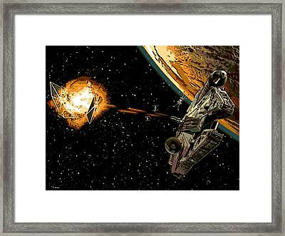 Falcon Fights Back Framed Print