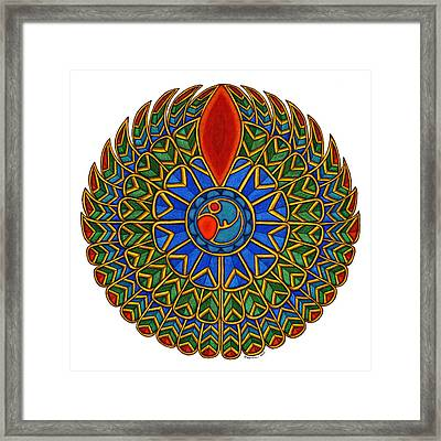 Falcon Framed Print by Maureen Frank The Mandala Lady