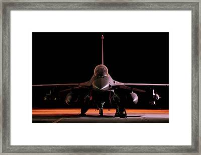 Falcon Nest Framed Print by Peter Chilelli