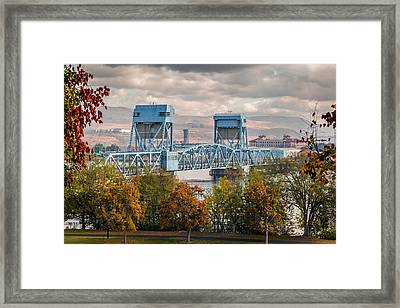 Fall 2015 Blue Bridge Framed Print