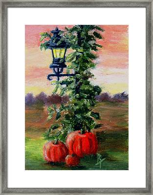 Fall Aceo Framed Print by Brenda Thour
