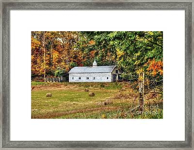 Fall Along 57 Framed Print by Darren Fisher