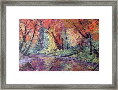 Fall Along The River Framed Print