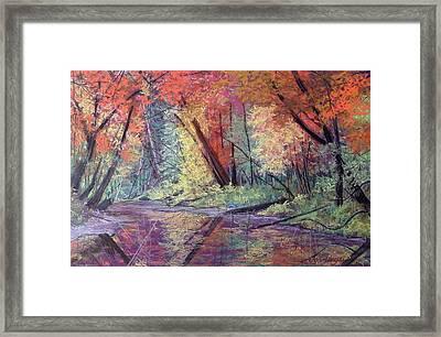 Fall Along The River Framed Print