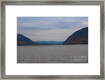 Fall And The Hudson Framed Print
