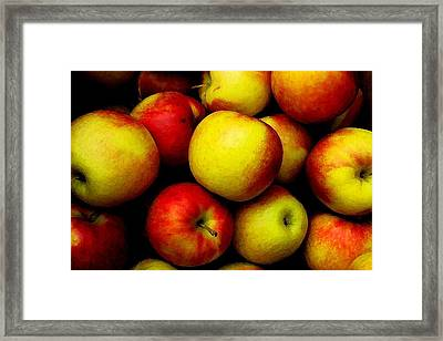 Fall Apples Framed Print by Dennis Curry