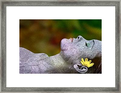 Framed Print featuring the digital art Fall Asleep by Tom Romeo
