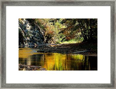 Framed Print featuring the photograph Fall At Big Creek by Bruce Patrick Smith