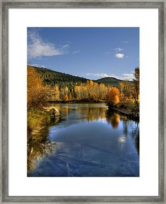 Fall At Blackbird Island Framed Print