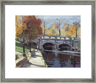 Fall At Delaware Park Buffalo Framed Print by Ylli Haruni