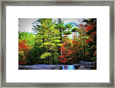 Fall At Diana's Baths Framed Print by Patti Whitten