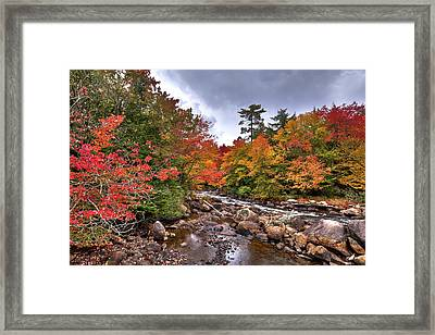 Framed Print featuring the photograph Fall At Indian Rapids by David Patterson