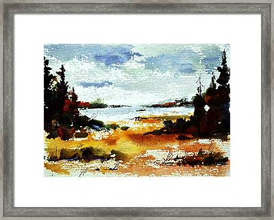 Fall At Kennisis Lake Framed Print by Wilfred McOstrich