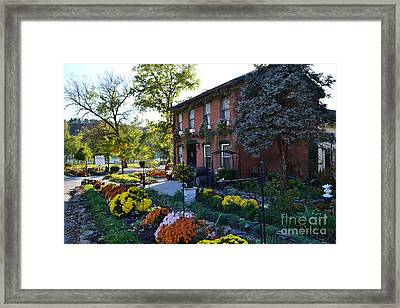 Fall At Lanier Winery In Madison  Framed Print by Amy Lucid