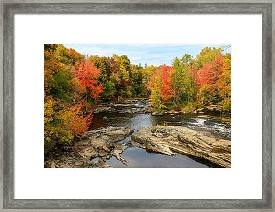 Fall At Little Androscoggin Framed Print by Laurie Breton