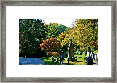 Fall At Mount Hope Cemetery 2 Framed Print by Richard Jenkins