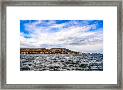 Framed Print featuring the photograph Fall At Somes Sound by Anthony Baatz