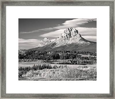 Fall At The Crowsnest In Monochrome Framed Print by Royce Howland