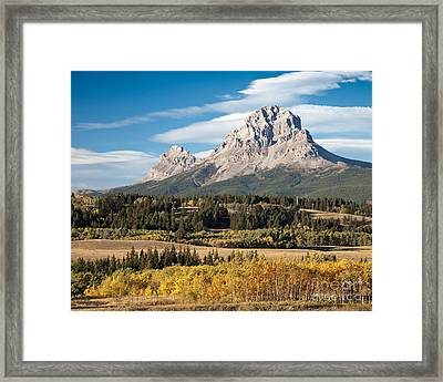 Fall At The Crowsnest Framed Print by Royce Howland