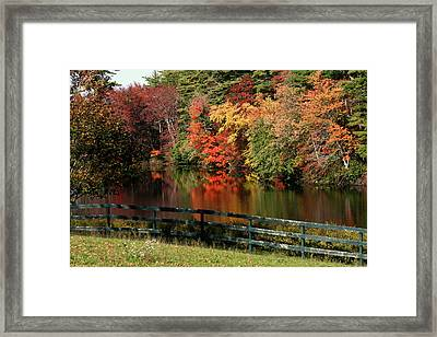 Fall At The Farm Framed Print