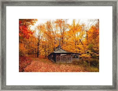 Fall At The Sugar House Framed Print by Robert Clifford