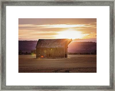 Fall Barn Framed Print by Down the Dirt Road Photography