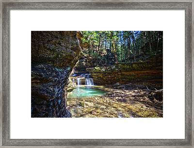 Fall Below Old Mans Cave Framed Print