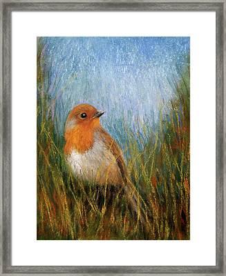 Fall Bird Framed Print by Susan Jenkins