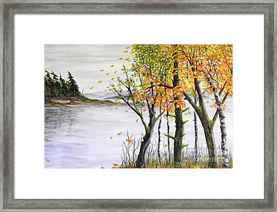 Fall Blows In Framed Print