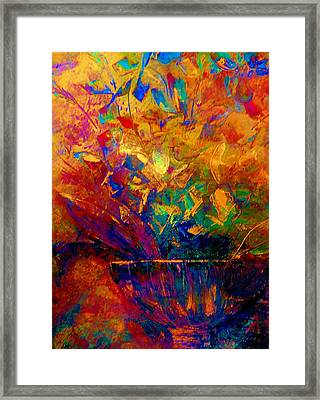 Framed Print featuring the painting Fall Bouquet  by Lisa Kaiser