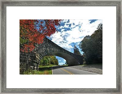 Fall Bridge Framed Print