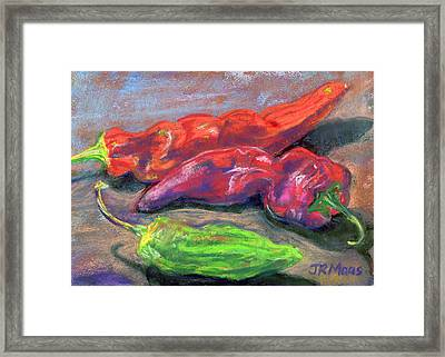 Fall Chiles Framed Print by Julie Maas