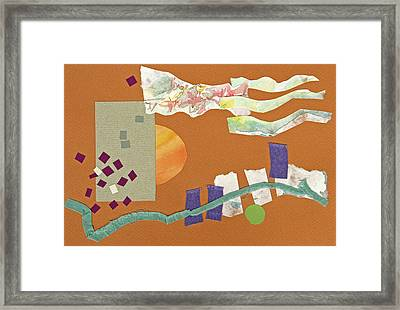 Fall Clouds Framed Print by Eileen Hale