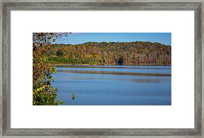 Fall Color At Lake Zwerner Framed Print