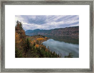 Fall Color At Ruthton Point In Hood River Oregon Framed Print