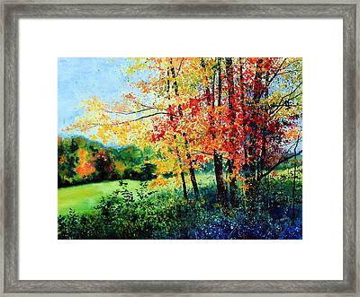 Fall Color Framed Print by Hanne Lore Koehler