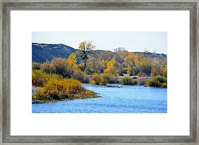 Framed Print featuring the photograph Fall Color On The Yuba  by AJ Schibig