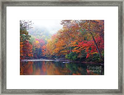 Fall Color Williams River Mirror Image Framed Print by Thomas R Fletcher