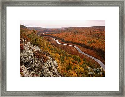 Fall Colors - Lake Of The Clouds Framed Print